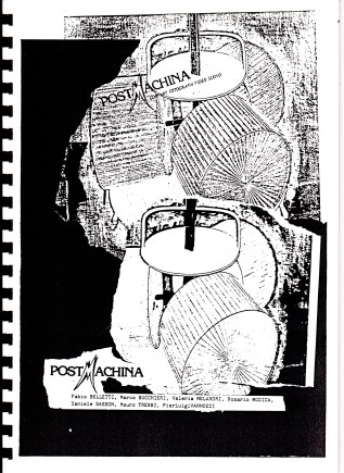 Postmachina Copertina del catalogo Copy Art a Bologna - 1984