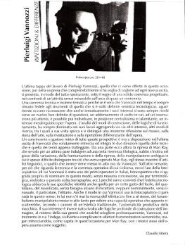 Ripetizioni e diffrenze -Claudio Marra