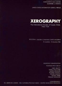 Xerography interno catalogo GAM Bologna 1986